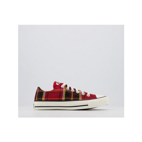 Converse All Star Low UNIVERSITY RED BLACK EGRET CHECK