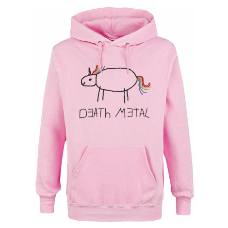 Death Metal Hooded sweater light pink