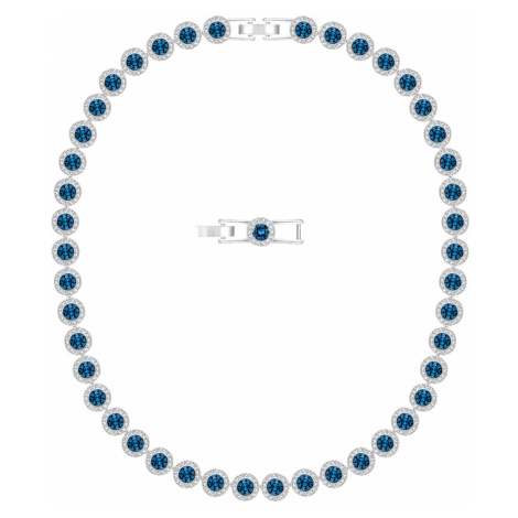Angelic Necklace, Blue, Rhodium plated Swarovski