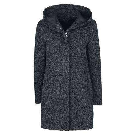 Forplay Melange Hooded Coat Coats mottled black