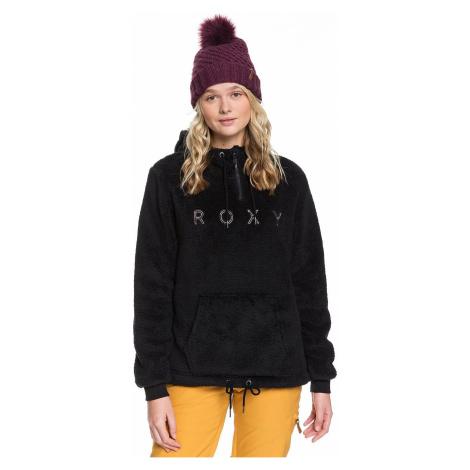 sweatshirt Roxy Pluma Sherpa - KVJ0/True Black - women´s