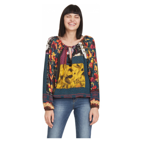 Desigual Wanda Blouse Blue Colorful