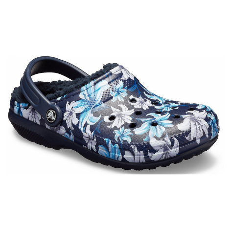 shoes Crocs Classic Lined Graphic II Clog - Lavender/Navy - women´s