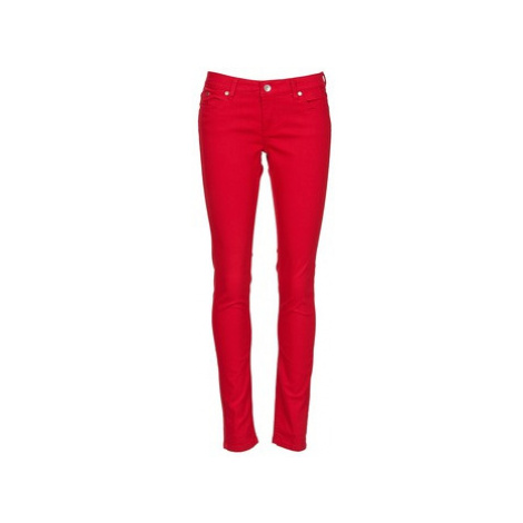 Red women's casual trousers