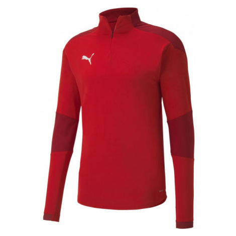 Puma TEAM FINAL 21 TRAINING 14 ZIP TOP red - Men's training t-shirt