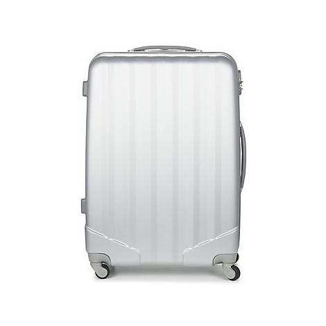 David Jones CHAUVETTA 110L men's Hard Suitcase in Silver