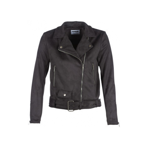 Noisy May NMCHRIZZY women's Leather jacket in Black