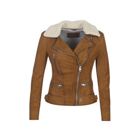 Oakwood PROJECTION women's Leather jacket in Brown