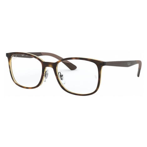 Ray-Ban Rb7142 Man Optical Lenses: Multicolor, Frame: Brown - RB7142 2012 50-18
