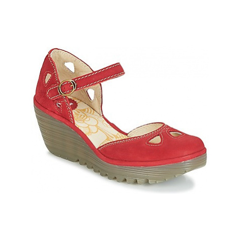 Fly London YUNA women's Court Shoes in Red