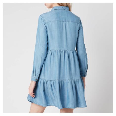Superdry Women's Tiered Shirt Dress - Light indigo Used