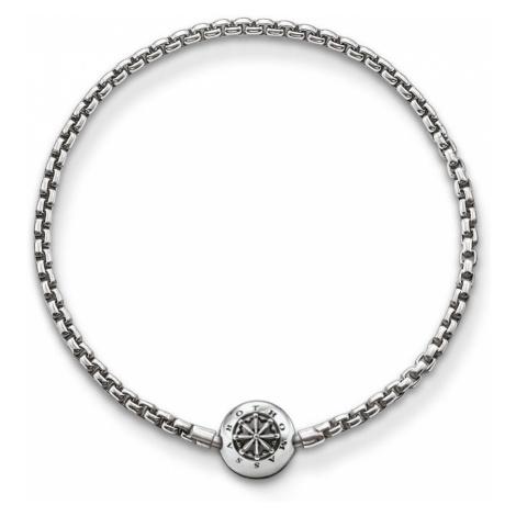 THOMAS SABO Blackened Silver Karma Beads Bracelet