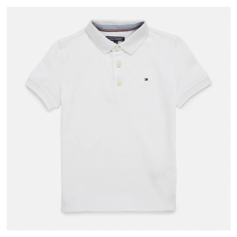 Tommy Hilfiger Boys' Iconic Polo Shirt - Bright White