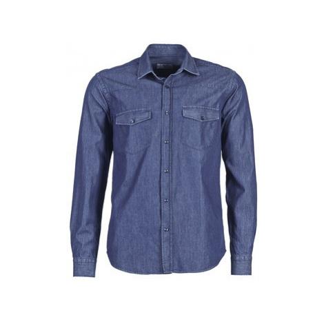 Yurban FIEDIK men's Long sleeved Shirt in Blue