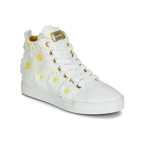 Geox JR CIAK GIRL girls's Children's Shoes (High-top Trainers) in White
