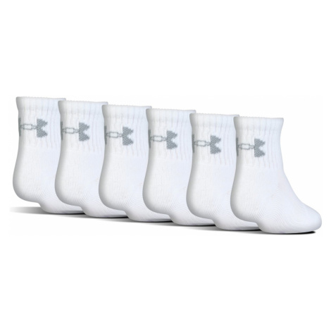 Under Armour Charged Cotton® 2.0 Kids socks 6 pairs White