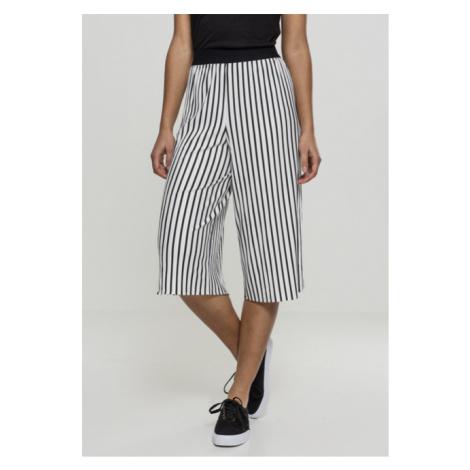 Urban Classics Ladies Stripe Pleated Culotte white/black