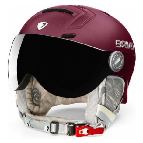 Briko AMBRA VISOR PHOTO wine - Women's ski helmet