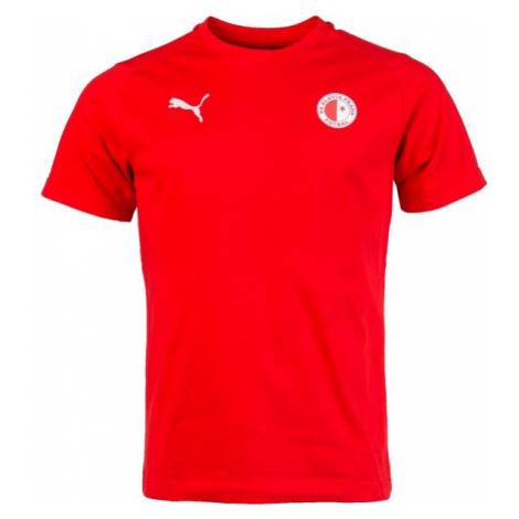 Puma LIGA CASUALS TEE SLAVIA red - Men's sports T-shirt