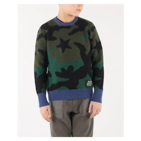 Diesel Kroxi Kids sweater Green Colorful