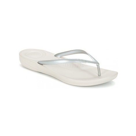 FitFlop IQUSHION women's Flip flops / Sandals (Shoes) in Silver