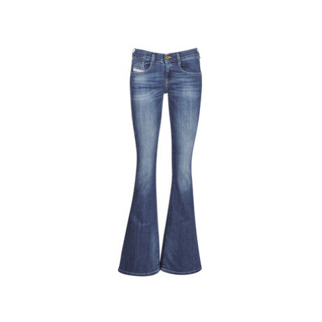 Diesel EBBEY women's Bootcut Jeans in Blue