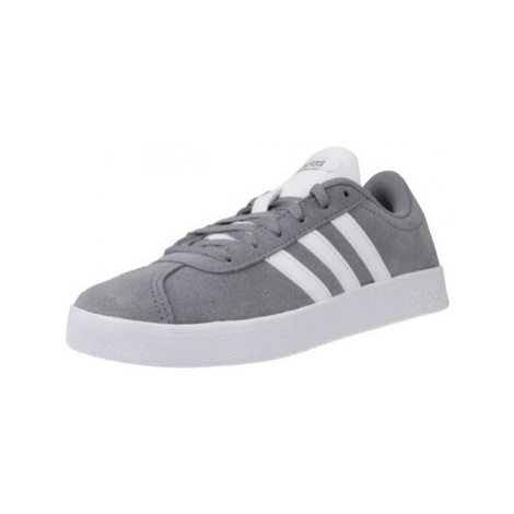 Adidas VL COURT 2.0 K boys's Children's Shoes (Trainers) in Grey