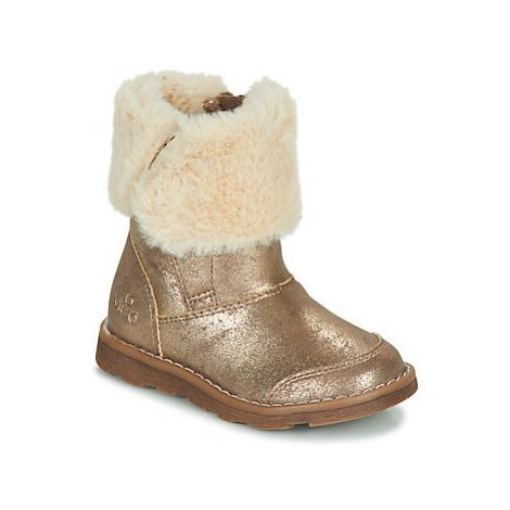 Mod'8 ALOUNA girls's Children's Mid Boots in Gold