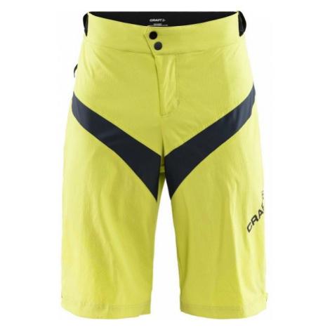 Craft ROUTE XT yellow - Men's cycling shorts
