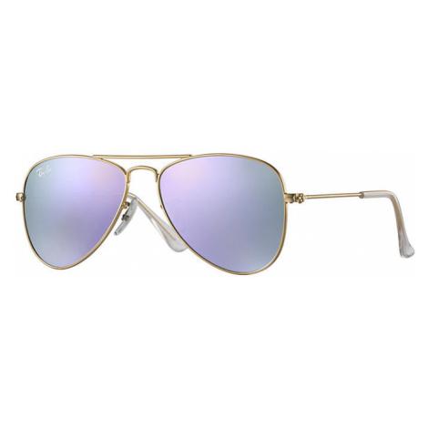 Ray-Ban Aviator junior Unisex Sunglasses Lenses: Violet, Frame: Gold - RJ9506S 249/4V 50-13
