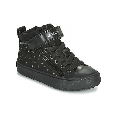 Geox J KALISPERA GIRL girls's Children's Shoes (High-top Trainers) in Black
