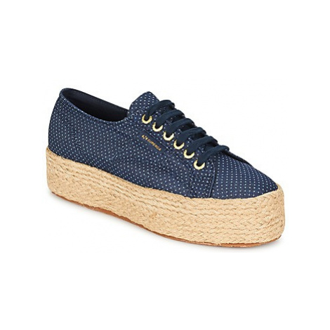 Superga 2790 FABRIC SHIRT TROPEW women's Shoes (Trainers) in Blue