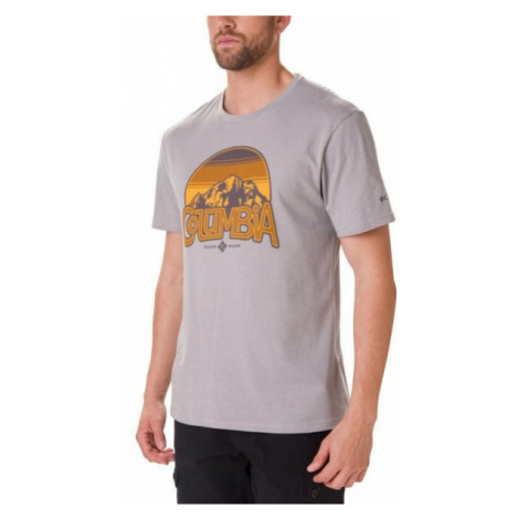 Columbia BASIN BUTTE SS GRAPHIC TEE gray - Men's T-shirt