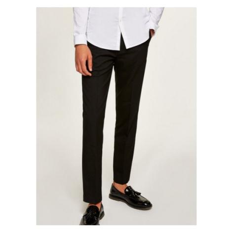 Mens Black Slim Fit Smart Trousers, Black Topman