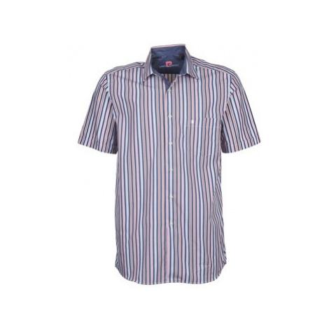 Pierre Cardin 514636216-184 men's Short sleeved Shirt in Blue