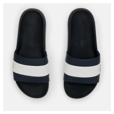 Lacoste Men's Croco Slide 120 Slide Sandals - Navy/White - UK