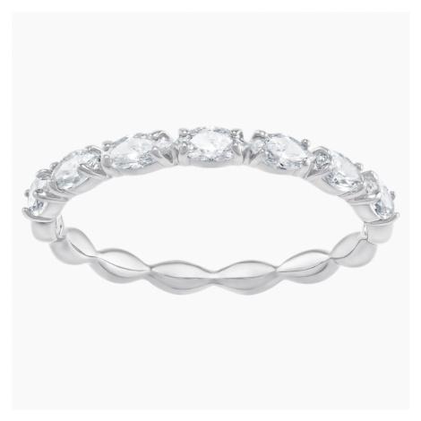 Vittore Marquise Ring, White, Rhodium plated Swarovski