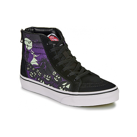 Vans DISNEY UY SK8-HI ZIP girls's Children's Shoes (High-top Trainers) in Black