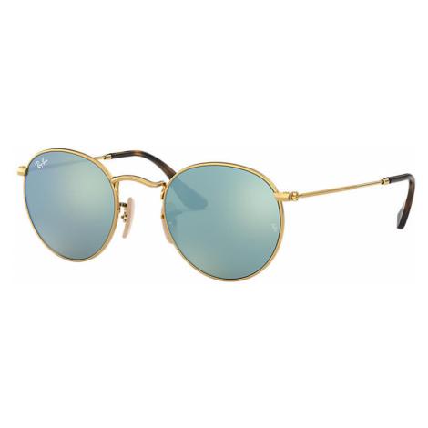 Ray-Ban Round flat lenses Unisex Sunglasses Lenses: Gray, Frame: Gold - RB3447N 001/30 47-21