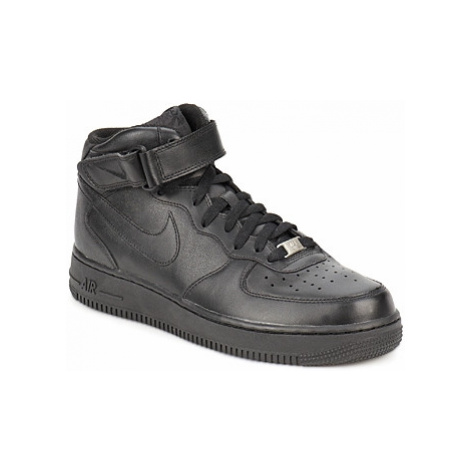 Nike AIR FORCE 1 MID '07 LE men's Shoes (High-top Trainers) in Black