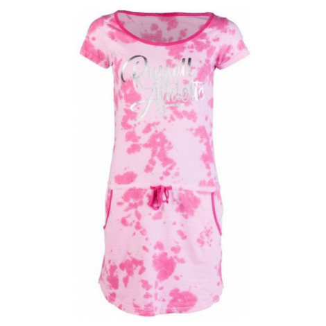 Russell Athletic PRINTED SCRIPT DRESS pink - Women's dress