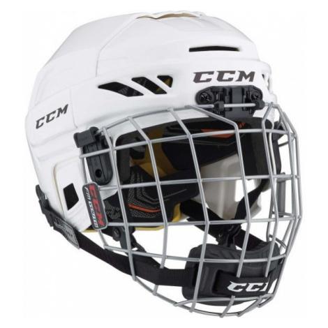 CCM FITLITE 3DS COMBO YT white - Kids' hockey helmet