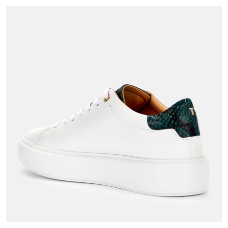 Ted Baker Women's Pixie Leather Flatform Trainers - White - UK