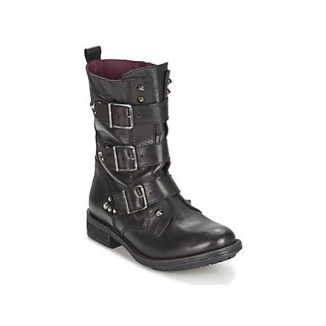 Ikks RANGER-COLLECTOR-BOUCLE women's Mid Boots in Black