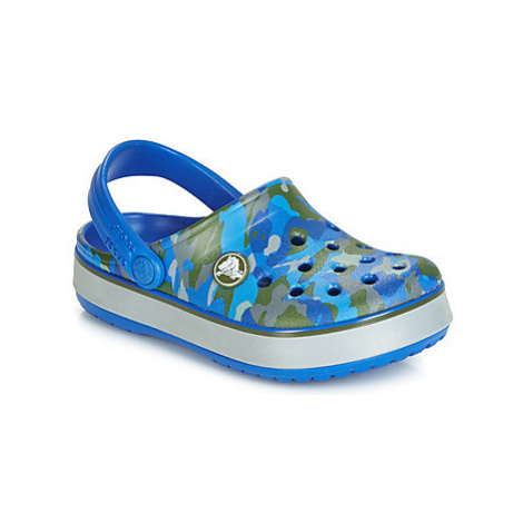 Crocs CB CAMO REFLECT BAND CLOG K boys's Children's Clogs (Shoes) in Blue