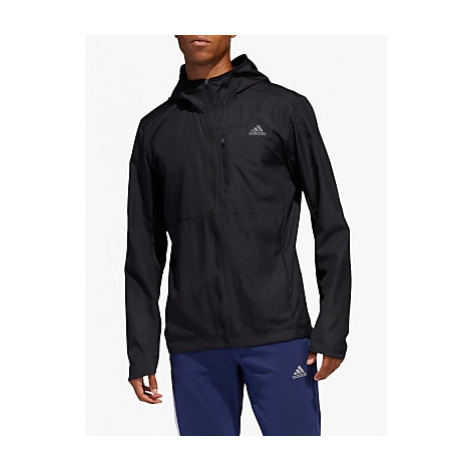 Adidas Own The Run Hooded Wind Men's Running Jacket, Black