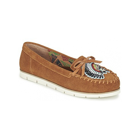Miss L'Fire CHIEFTAIN women's Loafers / Casual Shoes in Brown