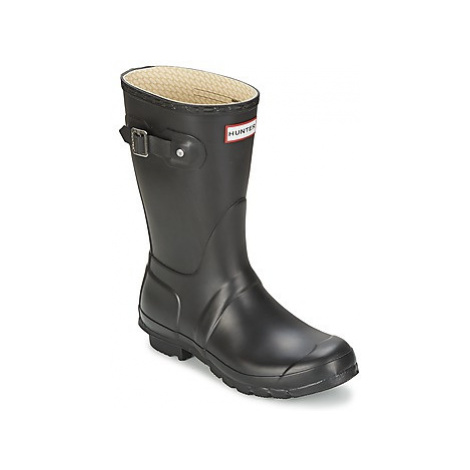 Hunter Women's Original Short women's Wellington Boots in Black
