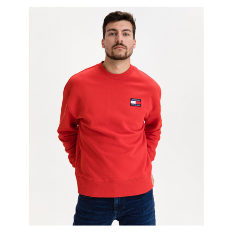 Tommy Jeans Badge Sweatshirt Red Tommy Hilfiger