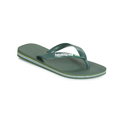 Havaianas BRASIL LOGO women's Flip flops / Sandals (Shoes) in Green